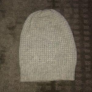 light gray knit beanie
